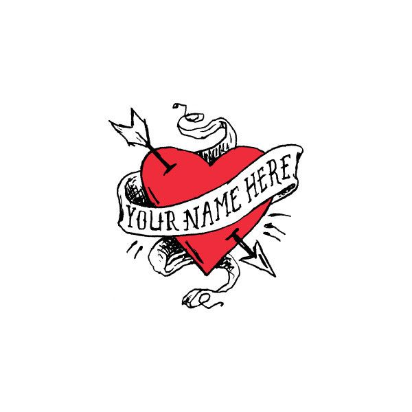 "Tattoo Designs Heart With Names: LOL This Is A Temporary Tattoo But The ""your Name Here"