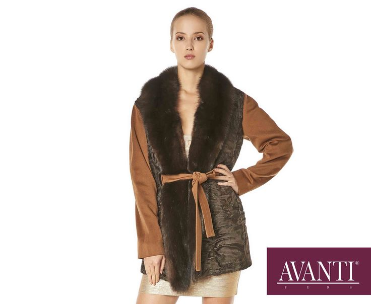 AVANTI FURS - MODEL: BUBBLE-BATH SWAKARA JACKET with Sable and Cashmere details #avantifurs #fur #fashion #swakara #sable #sobol #luxury #musthave #мех #шуба #стиль #норка #зима #красота #мода #topfurexperts