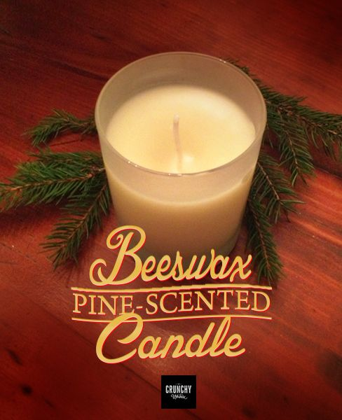 DIY Pine-Scented Beeswax Candle — Make your own all-natural beeswax candles with essential oils!