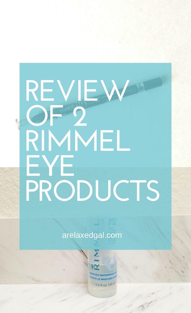 Rimmel Scandaleyes eyeliner review plus a review of the Rimmel eye makeup remover. | Rimmel eye makeup and makeup remover reviews | arelaxedgal.com