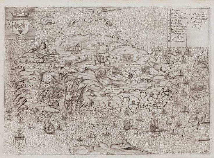 """March 29, in preparation for the 450th anniversary of the Great Siege of Malta, here is a #MaltaMapMonday map of the great siege printed in the early 17th century. """"Isle et Siege de Malte."""" printed in Paris by Jean Baudoin, c.1629. Engraved by Henri Raignauld for Anne de Nabarat's French translation of Giacamo Bosio's 'History of the Sacred Religion and Illustrious Militia of St John of Jerusalem'."""