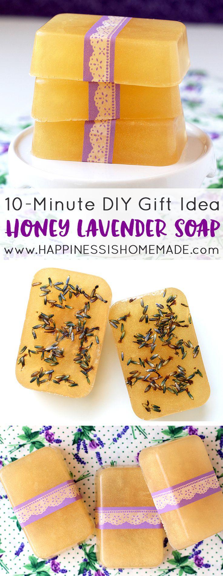 10 Minute Diy Honey Lavender Soap
