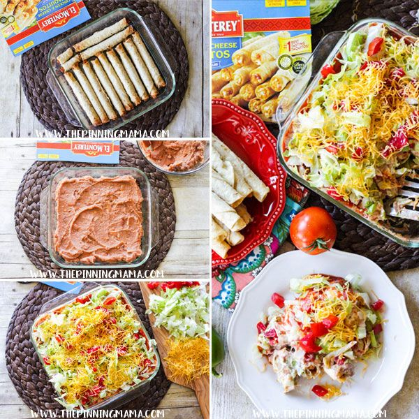 From an easy dinner recipe for a busy weeknight, to a hearty appetizer for a party or watching football, this Chicken Taquito Casserole recipe has you covered!  With just a few every day ingredient…