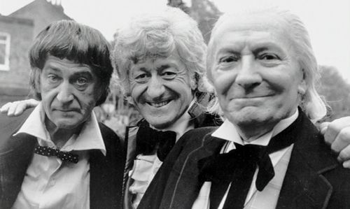 The Three Doctors - (l-r) Patrick Troughton, Jon Pertwee, William Hartnell