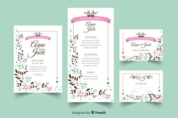 Download Wedding Stationery Template Flat Design For Free Stationery Templates Wedding Stationery Stationery