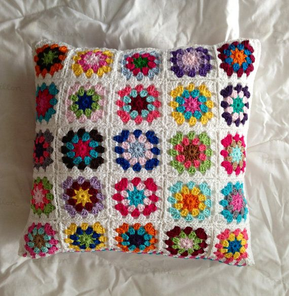 handmade crocheted cushion/pillow cover by maRRoseCCC on Etsy, $95.00