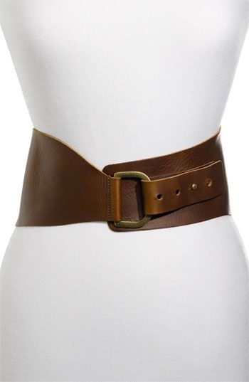 :))) me likey...Belgo Lux Wide Leather Belt available at Nordstrom