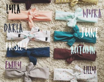 Knotted Headbands by DontForgetToFly on Etsy