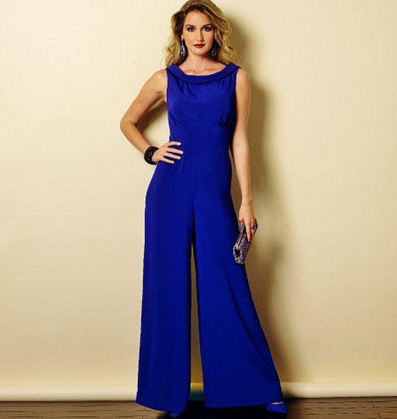 Wide Legs Jumpsuit Pattern Evening Dress Pattern by blue510