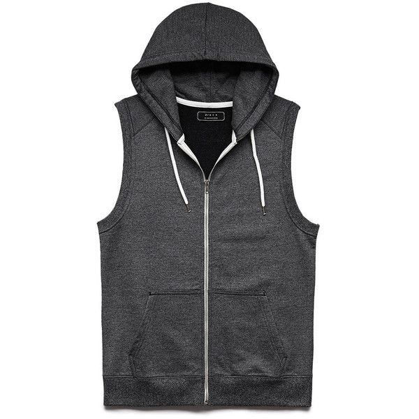 Forever 21 Men's  Cotton-Blend Sleeveless Hoodie (19 AUD) ❤ liked on Polyvore featuring men's fashion, men's clothing, men's hoodies, shirts, jackets, men, guys, vests, mens hooded sweatshirts and mens hoodie