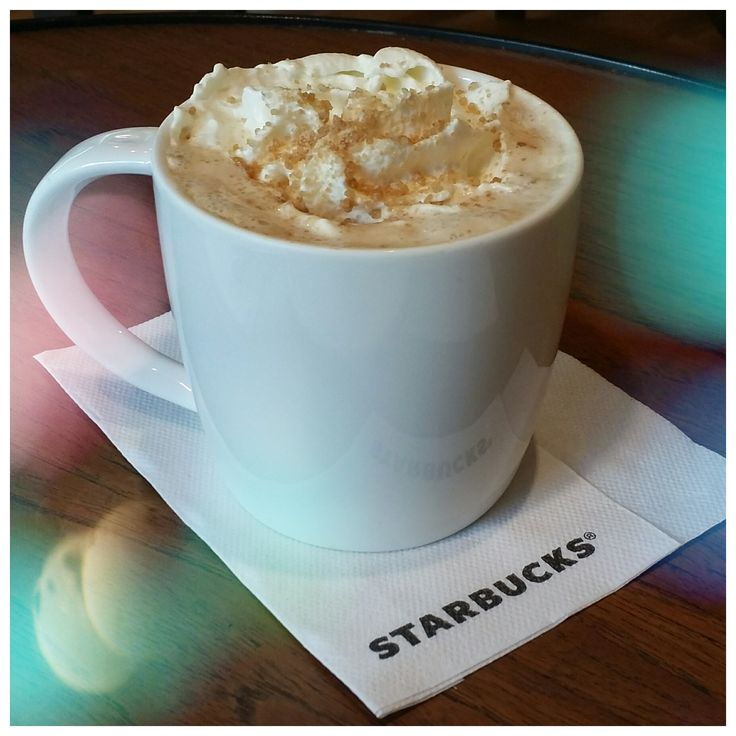 A warm Toffee Nut Latte - Starbucks