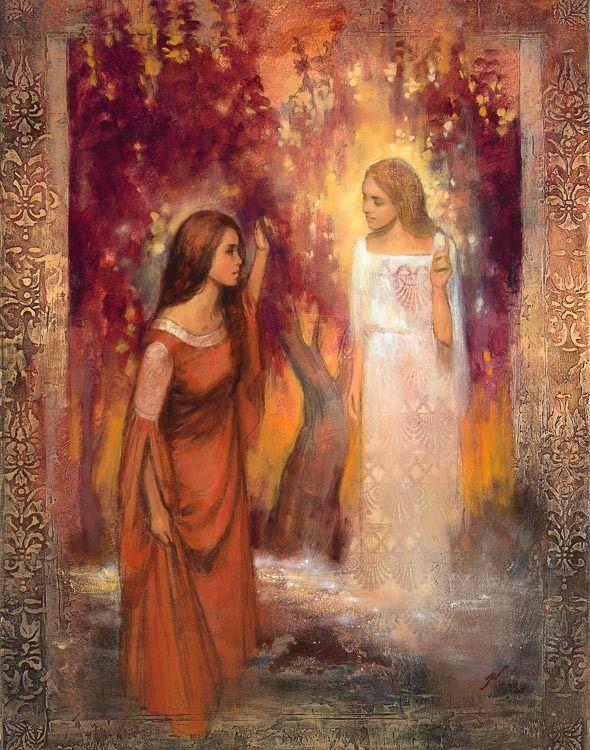 Gospel Art | Annunciation by Annie Henrie Nader giclee canvas | Cornerstone Art
