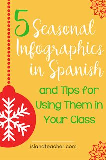 5 Spanish Infographics for the holiday season and tips for using them in Spanish class