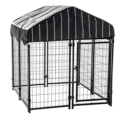 I just used this last weekend  Lucky Dog CL 60445 Pet Resort Kennel with Cover, 52″H x 4'L x 4'W follow this link click here http://bridgerguide.com/lucky-dog-cl-60445-pet-resort-kennel-with-cover-52h-x-4l-x-4w/ for much more detail about it. Thanks and please repin if you like it. :)