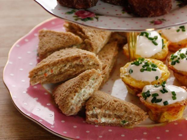 Get Garden Spread Finger Sandwiches Recipe from Food Network