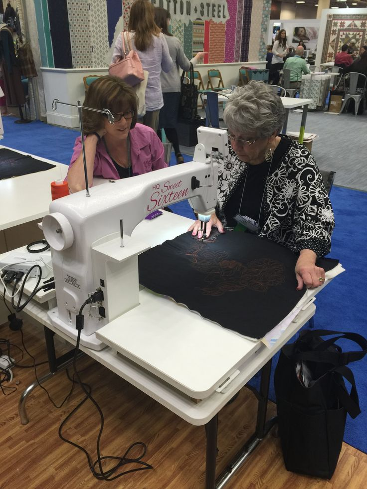 Watching A Handi Quilter Demo Quiltmarket Letsquilt