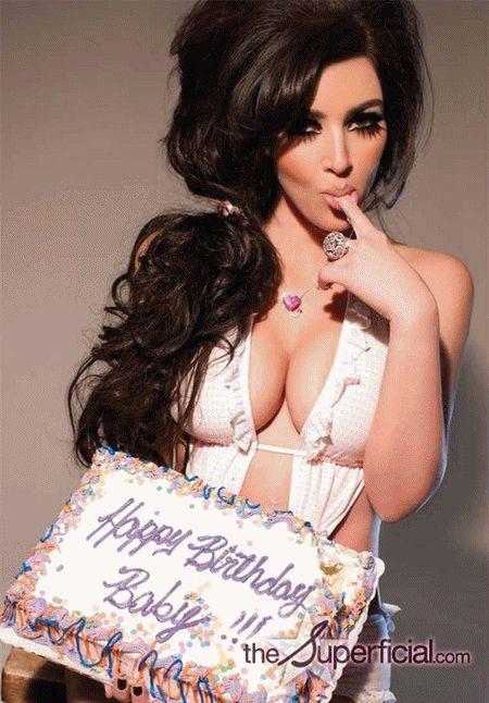 12 best Birthday images – Kim Kardashian Birthday Card