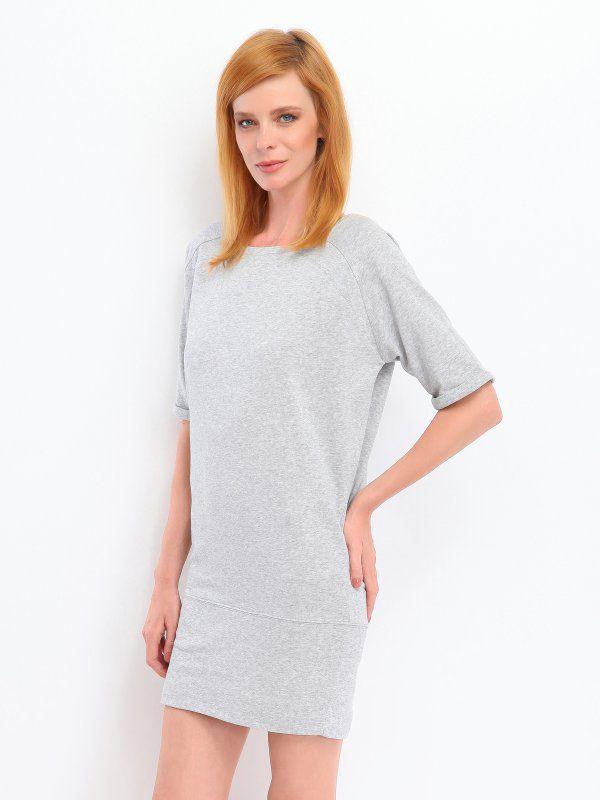 Sukienka damska jasnoszara  - SSU1105 sukienka - TOP SECRET - Odzieżowy sklep internetowy TOP SECRET