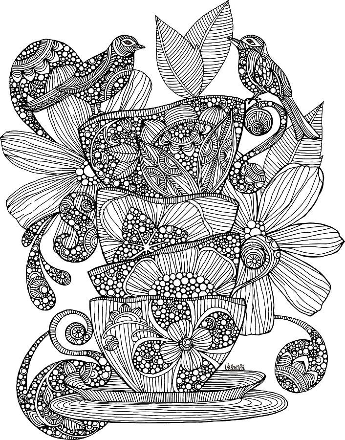 Flower Nook Coloring Book 725 Best Adult ColouringCoffeeTea
