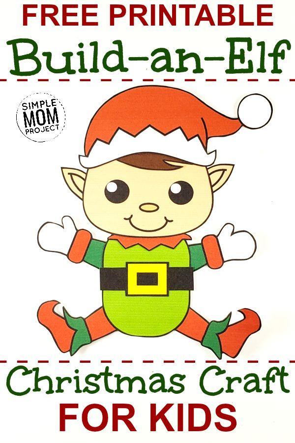 Printable Snowman Craft With Free Template Elf Crafts Preschool Elves Elf Activities