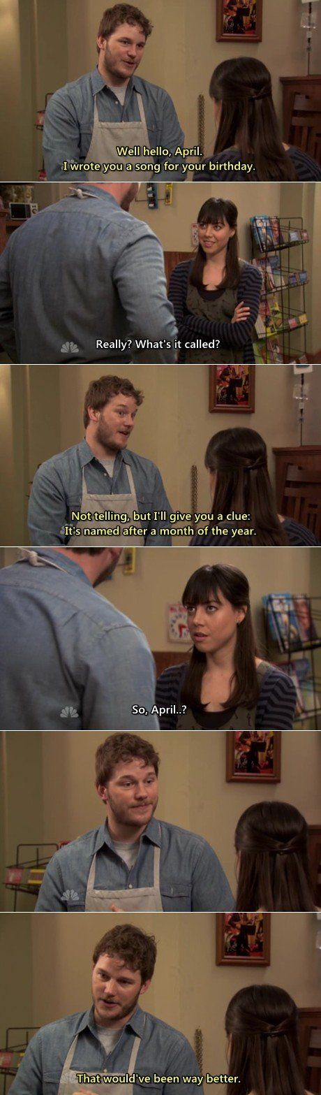 Parks & Recreation - April, he's so hot