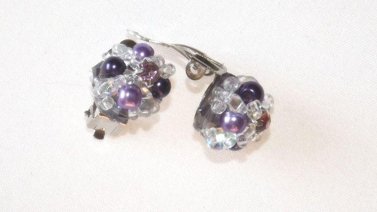 Purple Small earrings di ArtigianatoLiliana su Etsy
