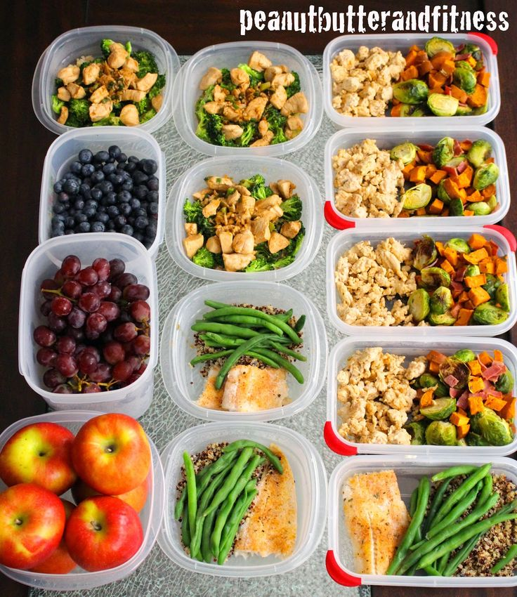 Meal prep ideas - Prepping helps save time and money and keeps me on track throughout the week.  This prep includes: Spicy Garlic Chicken with broccoli and rice; Ground turkey with roasted brussels sprouts, sweet potatoes and turkey bacon; Baked polluck with quinoa and green beans.  Recipes and nutritional info included. #MealPrepMonday