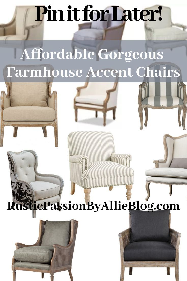 Find The Best Affordable Farmhouse Armchairs And Accent Chairs