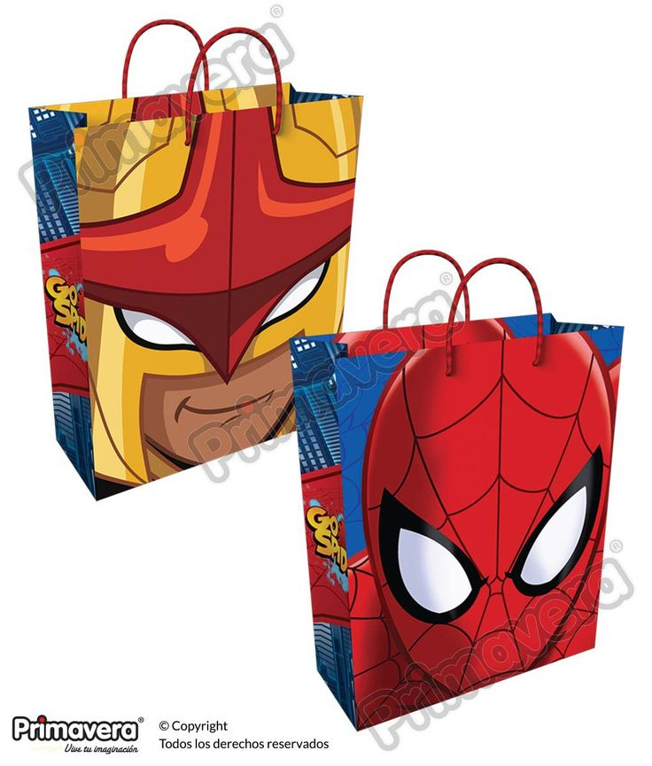 Bolsa Regalo Spiderman  http://envoltura.papelesprimavera.com/product/bolsa-regalo-personajes-spiderman-5/
