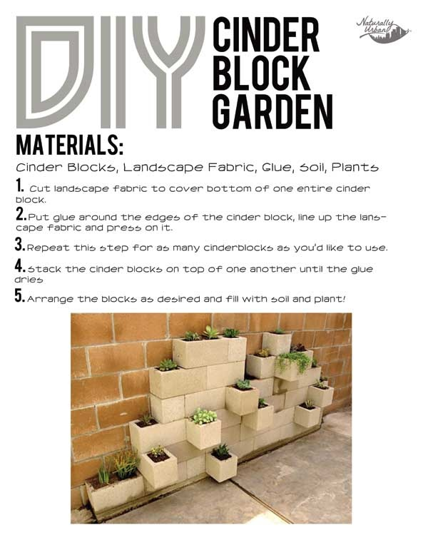 DIY: Cinder Block Garden - Naturally Urban