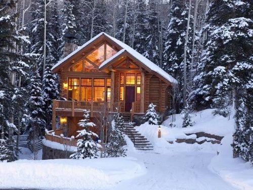 Snow Cabin Telluride Colorado Photo Via Dawn