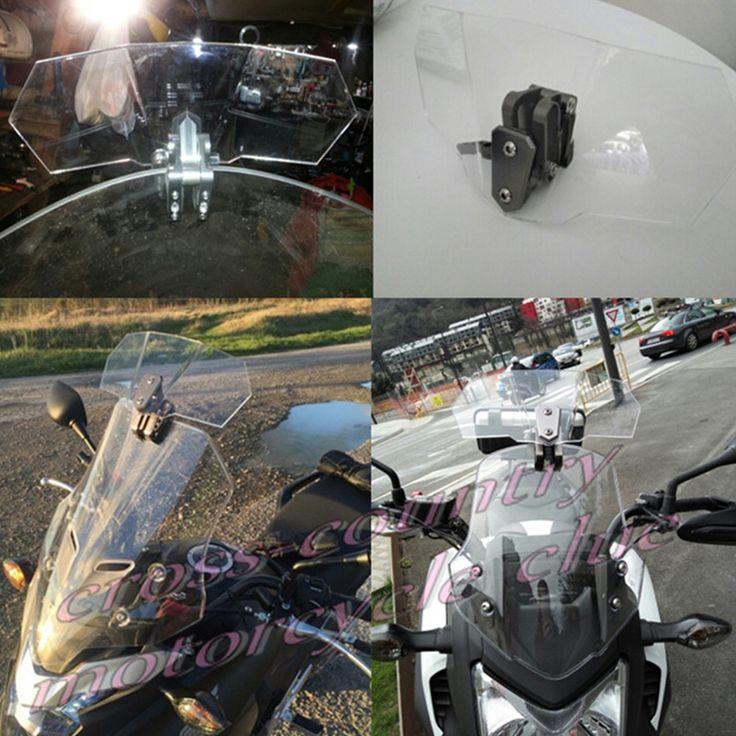 유니버설 오토바이 앞 유리 공기 흐름 조절 윈드 디플렉터 대한 가와사키 BMW 두카티 혼다 KTM