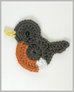 Robin Applique - free crochet pattern by Kelly DeSandro