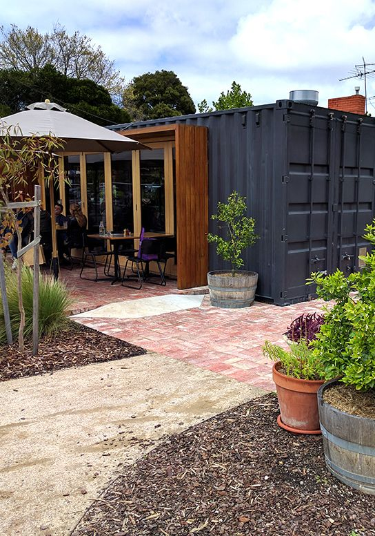 Melbourne's container cafe in Footscray--Rudimentary Cafe.