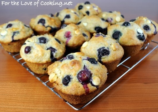 blueberry & white chocolate muffins. | recipes | Pinterest