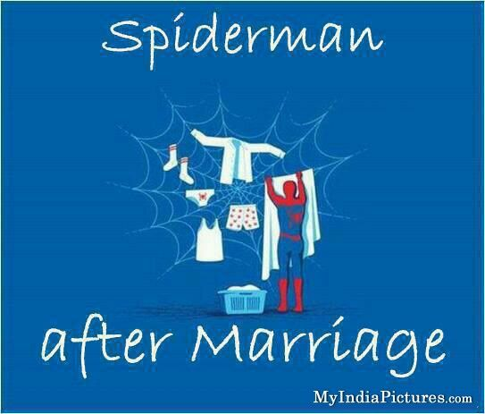 Spiderman After Marriage Funny Cartoon Jokes Comic Book