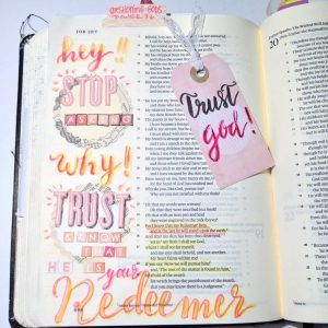 Bible Journaling in Job from Rebecca Sawatsky ©bibleartjournaling.de
