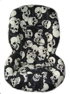 Skulls barb wire replacement toddler car seat cover Fits Britax Marathon chic-covers
