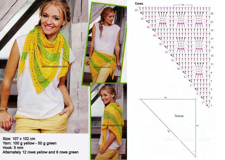 Mejores 180 imágenes de cuellos y pañuelos en Pinterest | Ponchos ...