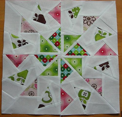Double Flying Geese Circle block
