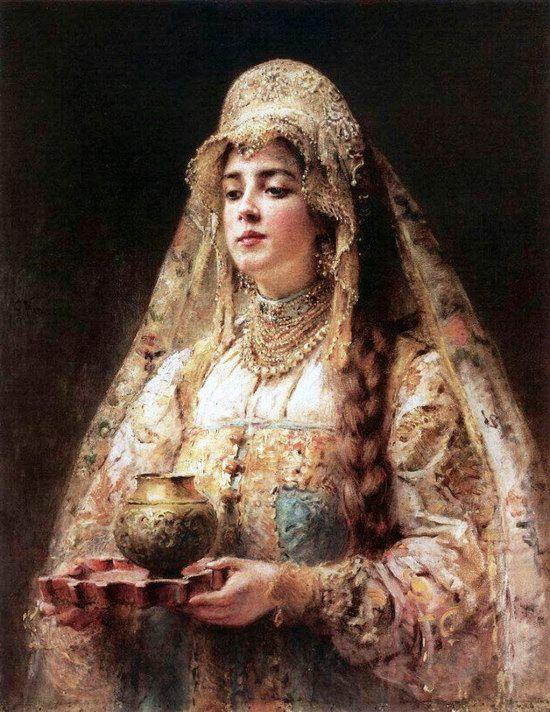 Russian beauty, Konstantin Makovsky painting 21