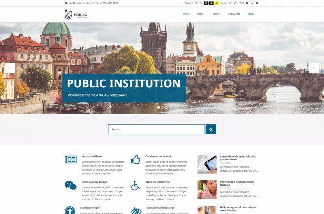 PE Public Institutions WordPress Theme #theme #WordPress