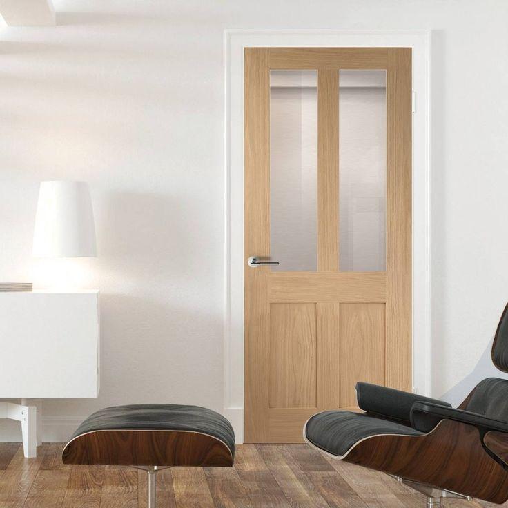 Malton Oak Shaker 2 panel & 2 Pane Door with Clear Safety Glass.    #oakdoor #glazeddoor #perioddoor #,maltondoor #traditionaldoor #smartdoor #shakerdoor