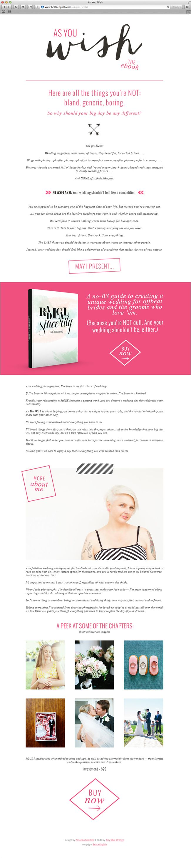 As You Wish | Sales Page Design