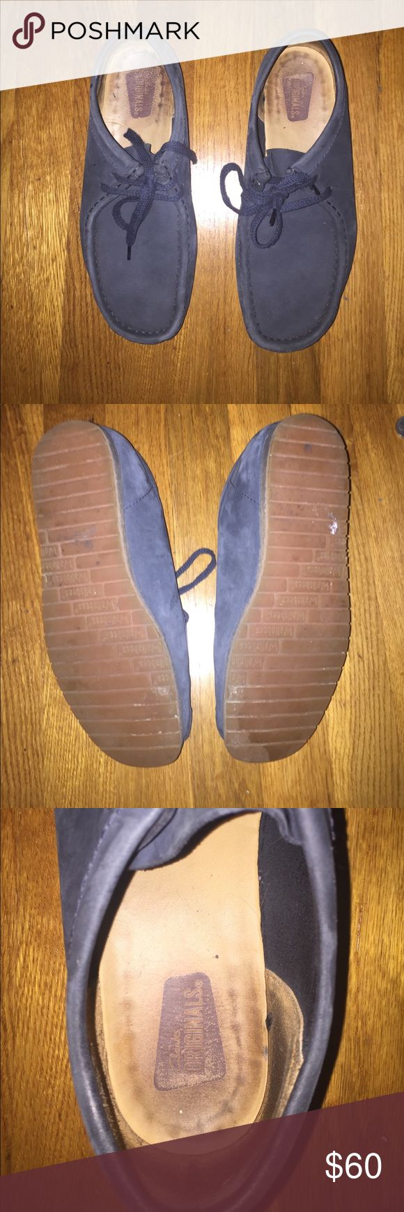 Clarks original wallabee step with sneaker bottoms Worn for 2 months while worked at clarks, rarely worn outside. Size 7 mens Clarks Shoes