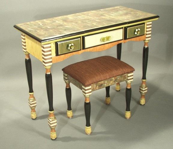 Flip Top Vanity Or Desk   Green. $2,150.00, Via Etsy.