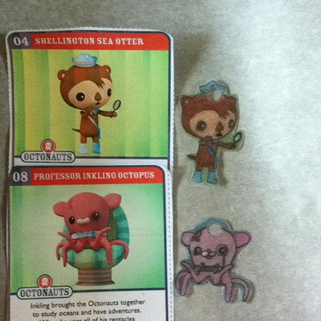 Octonauts Shrinky Dinks 1 Download Creature Cards Badges 2 Trace Blank Sheet