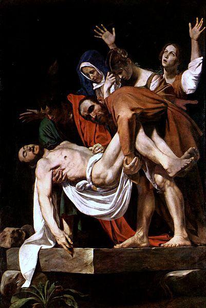 Caravaggio - Deposizione di Cristo, tra il 1602 e il 1604, olio su tela, 300 × 203 cm, Città del Vaticano, Pinacoteca Vaticana.