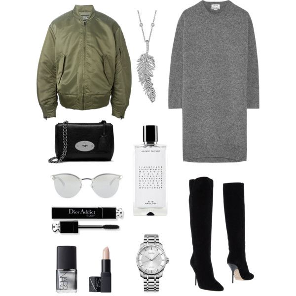A fashion look from December 2015 by mina-nurminen featuring Acne Studios, adidas Originals, Jimmy Choo, Mulberry, Penny Preville, Calvin Klein, Fendi, NARS Cos...