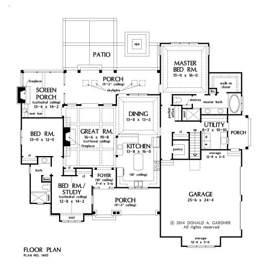 Plan of the week under 2500 sq ft the ferris 1405 2115 for 2500 sq ft ranch house plans